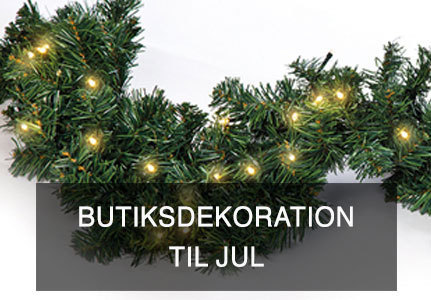 Butiksdekoration til jul