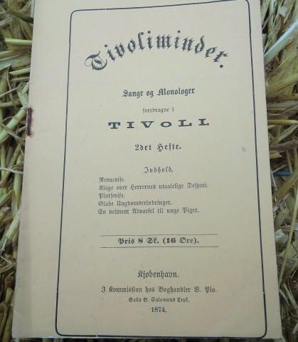Tivoliminder, program for Tivoli 1874